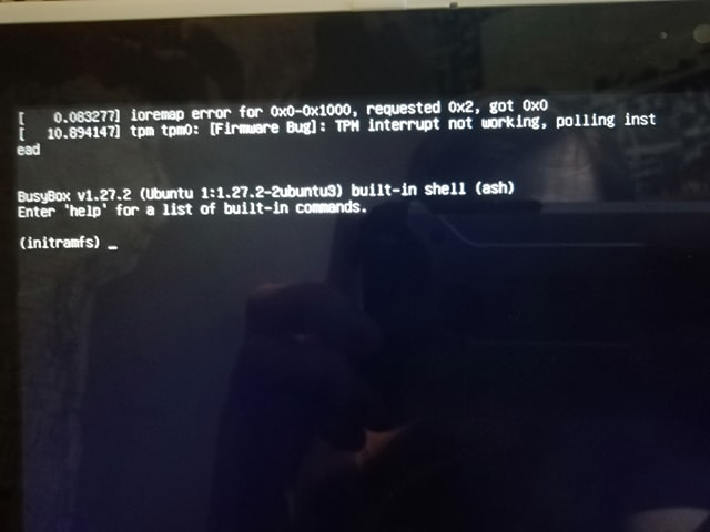Usb Ubuntu Installer Menu Boots Me Onto A 39initramfs