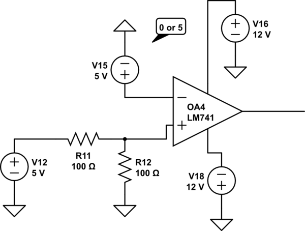 opamp comparator question electronics
