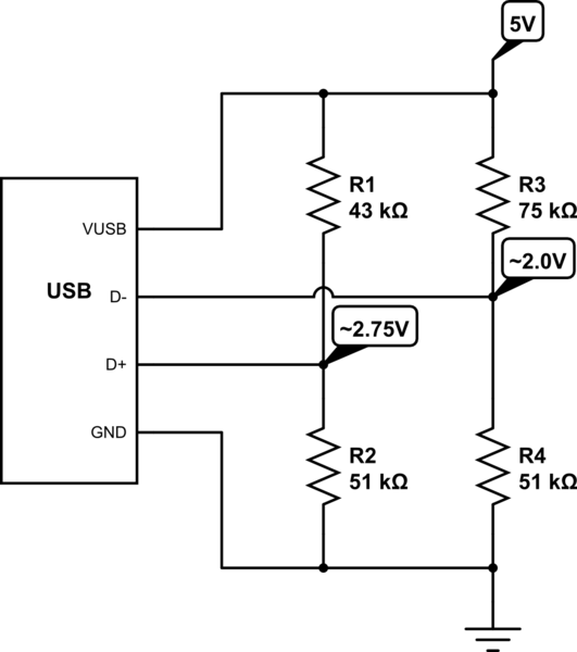 usb charger schematic