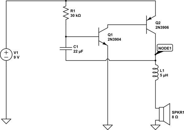 inductor circuit speaker using an inductor