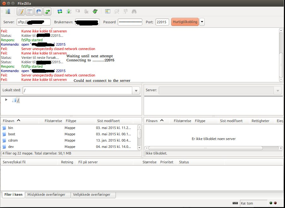 Server Sftp 14.04 - Connect To A Sftp-server Using Filezilla - Ask Ubuntu
