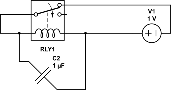 simple oscillator with one relay