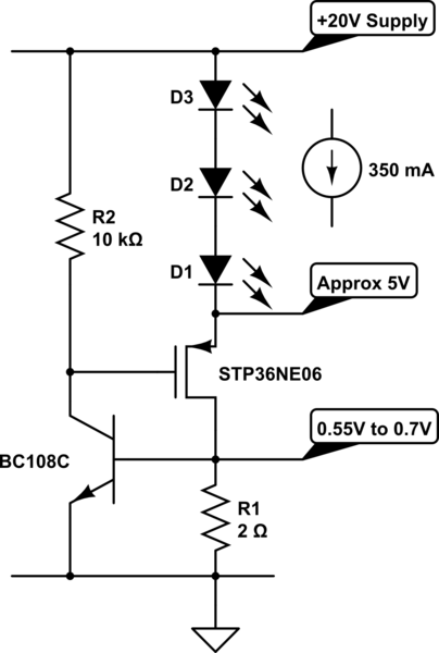 led constant current schematic