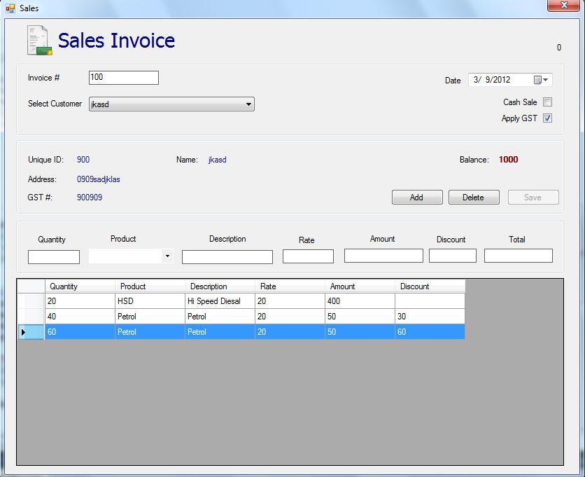 Sales Order Vs Sales Invoice Chron Vb Visual Basic Mysql Datagrid Delete From Database