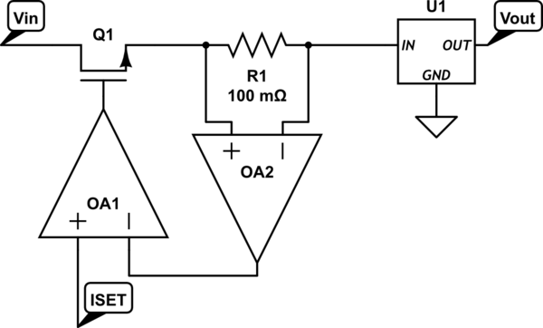 limiting circuit linear voltage regulator and voltage schematic