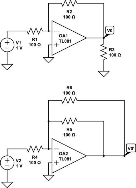 op amp circuit problems