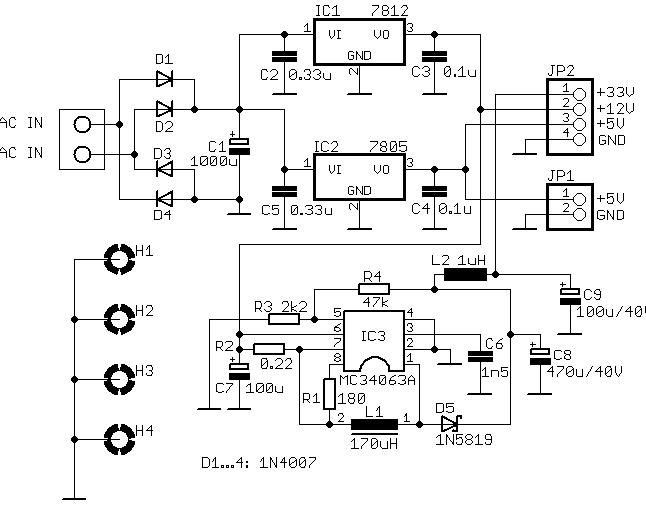 5v to 33v schematic