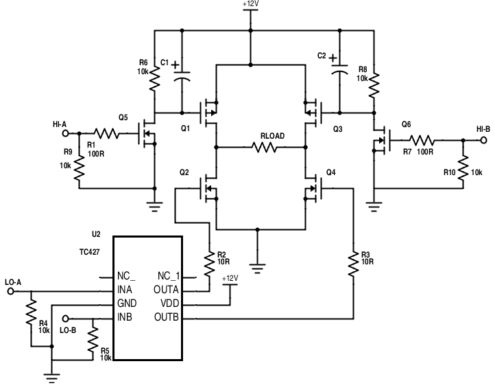 mosfet hbridge driver circuit design electrical engineering stack