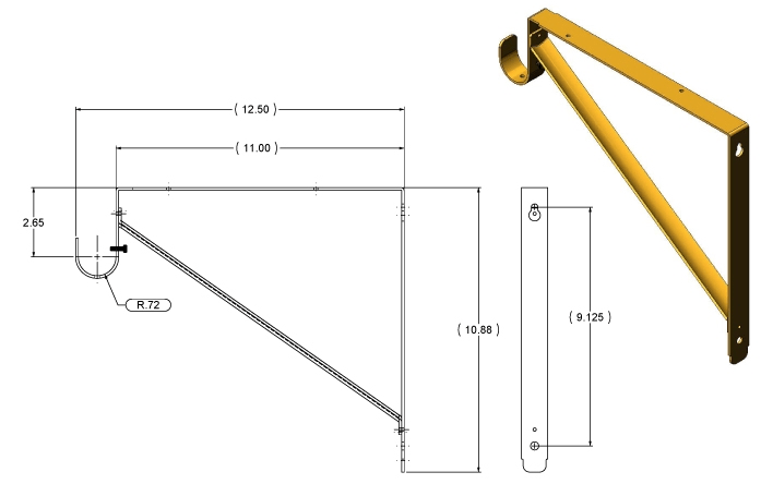 Brackets What Is The Standard Distance A Closet Rod