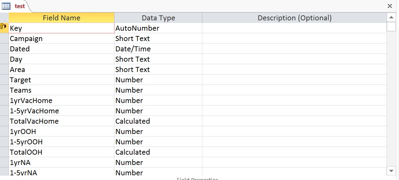 excel - Microsoft Access How to create a single report with