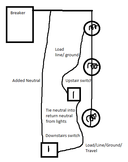 electrical can i steal a neutral wire from another circuit home