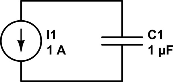 this circuit is a constant current source charging a capacitor the