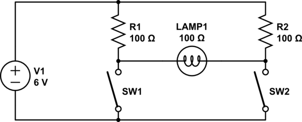 in the diagram above there are two inputs one is a normally open push