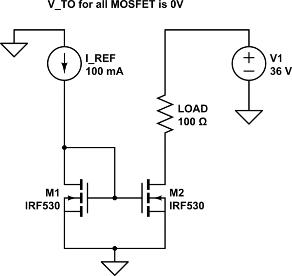current mirror with mosfets circuit simulator