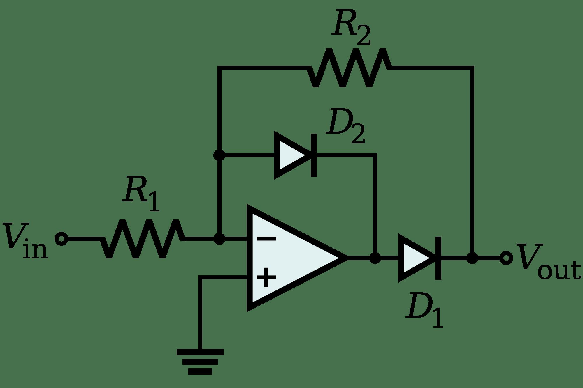 simple precision rectifier circuit stumped
