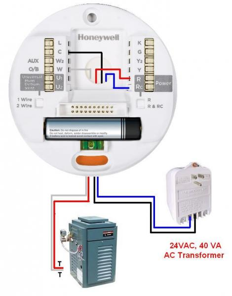 thermostat - How to add C-wire from Laars mini-term - Home