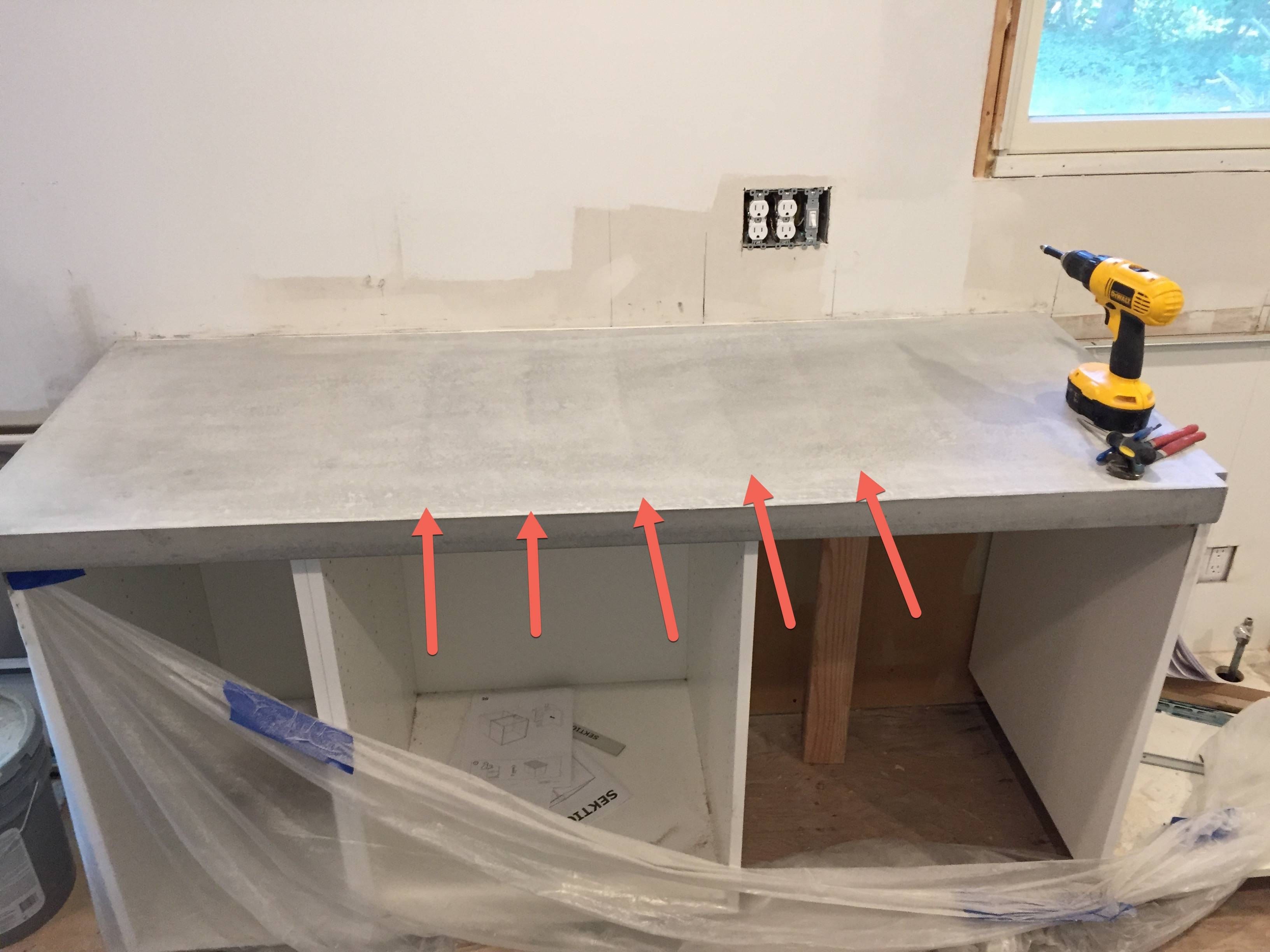 Cesar Countertop Concrete Countertops Ghosting Fix Home Improvement Stack Exchange
