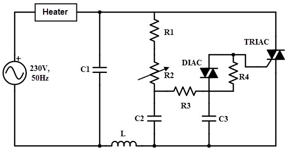 capacitors role in the diac triac ac circuit electronics and