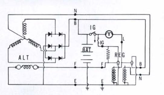 car alternator circuit