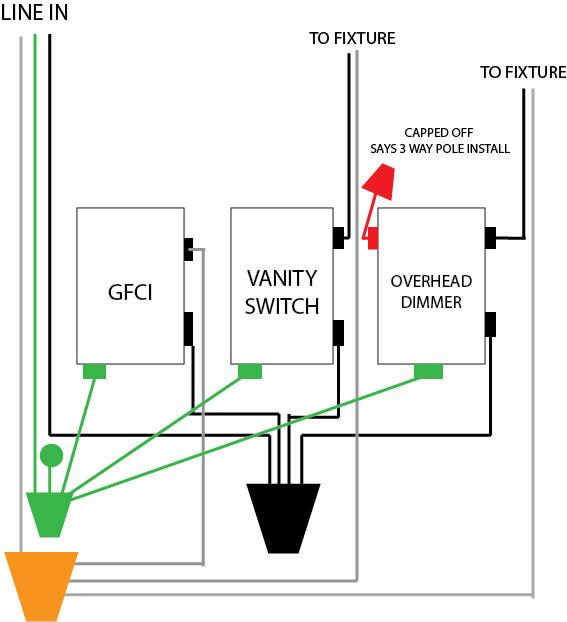 3 gang box wiring diagram