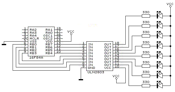 pic16f690 microcontroller circuit how to drive an led display
