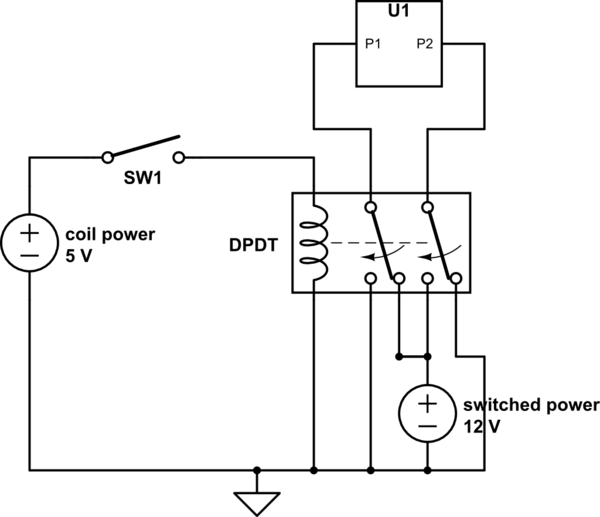 dpdt relay diagram wiring