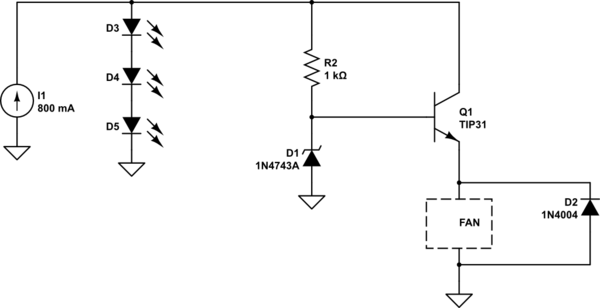 cooling fan circuit schematic