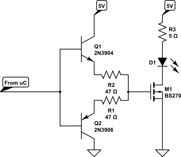 on this schematic it is connected correctly on the breadboard