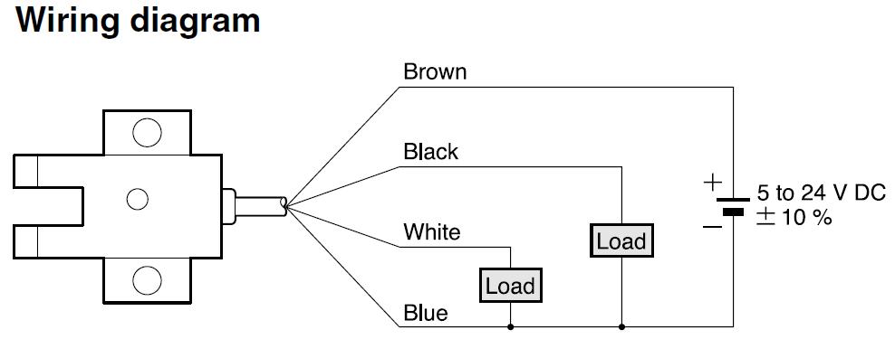 wiring diagram photoelectric sensor