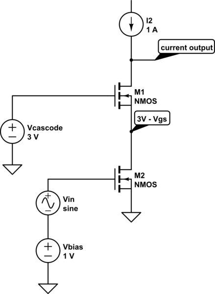 current amplifier and buffers