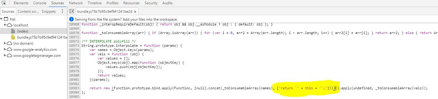 javascript - SyntaxError with template string literal on iOS safari