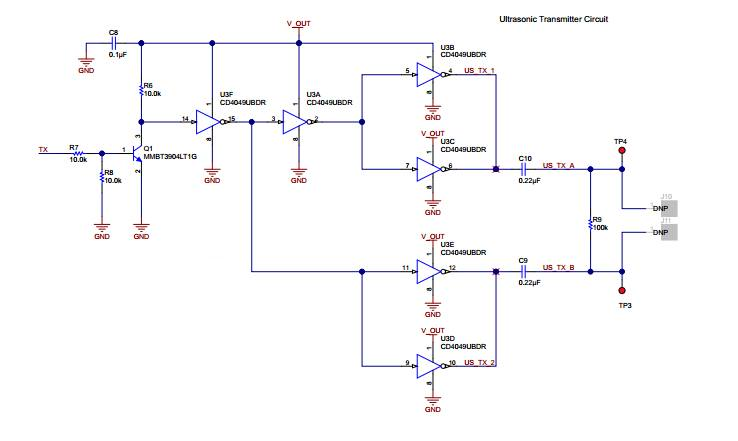 raspberry pi - how to design transmitter circuit Ma40s4s ultrasound