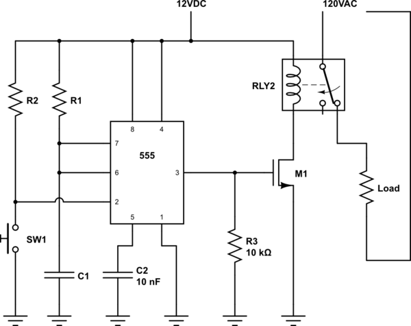 delay timer relay circuit diagram also on delay timer relay circuit