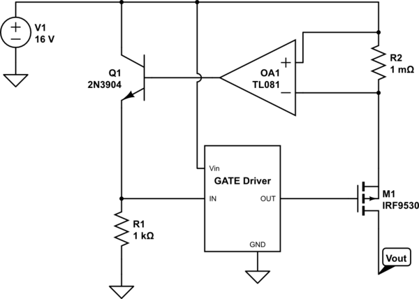 current limiting circuit using transistor