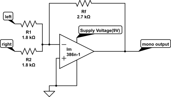 how to build an summing op amp circuit