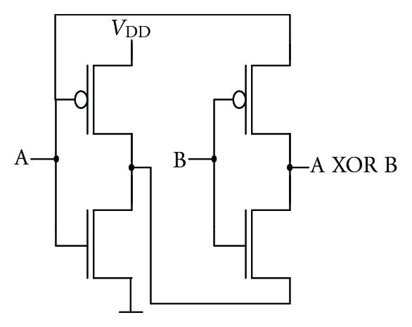 cmos circuit diagram 2 input xor gate