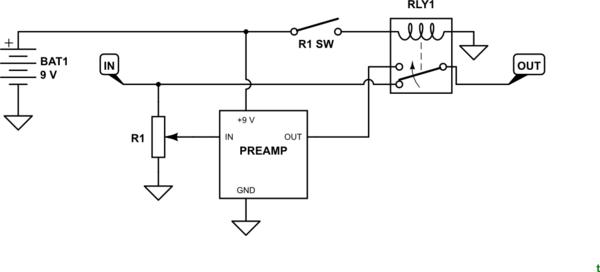 circuitlab reed switch circuit