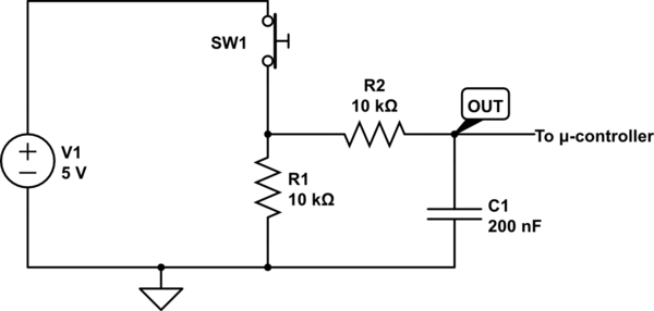 switch debouncing rc circuit