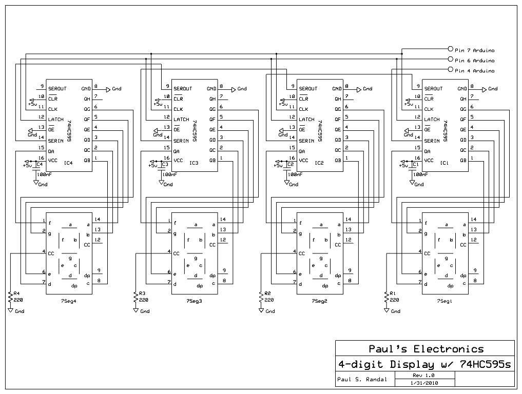 7segmentdisplay - How to connect multidigit 7seg common anode