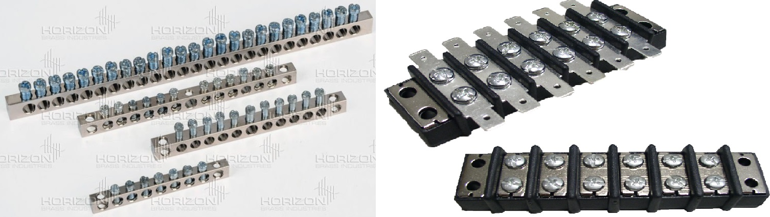 electrical - Are barrier terminal blocks or bus bars inside a