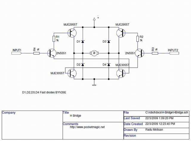 transistors - Adding braking to a H-bridge schematic - Electrical