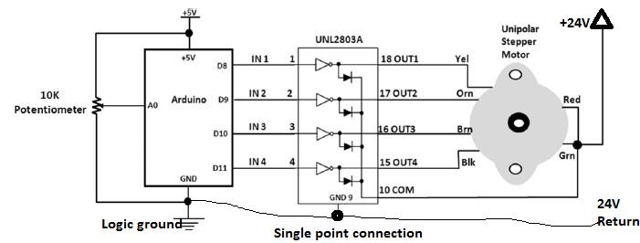 arduino dc motor control relay