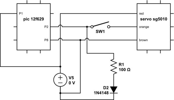 micro servo wiring diagram