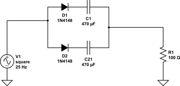 electrolytic capacitor circuit diagram