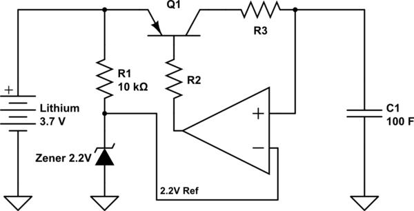 supercapacitor charging circuit