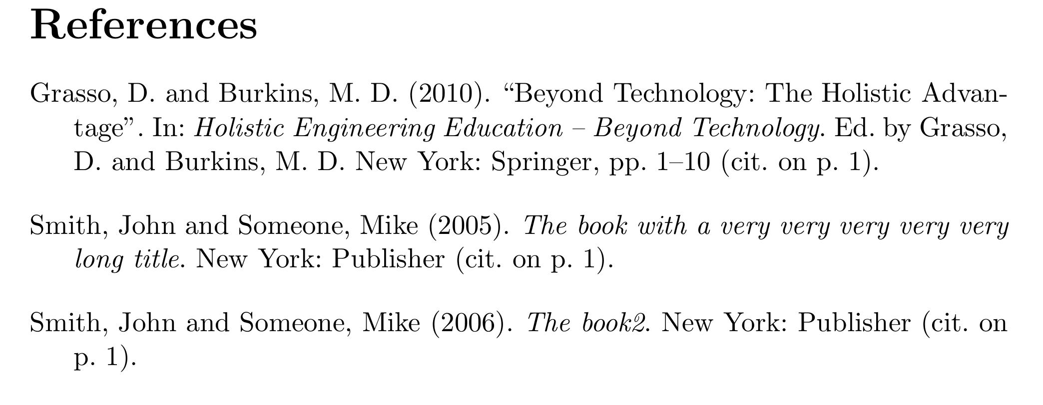apa style bibliography
