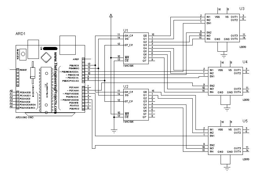 l293d motor shield circuit diagram