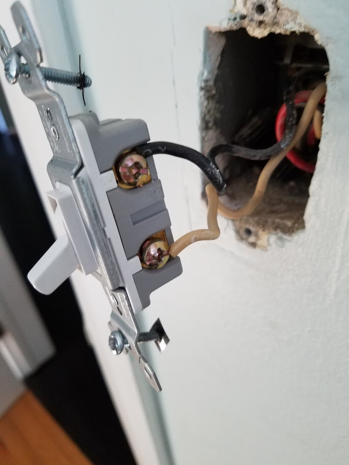 lighting - Wiring new ceiling fan to existing light switch box