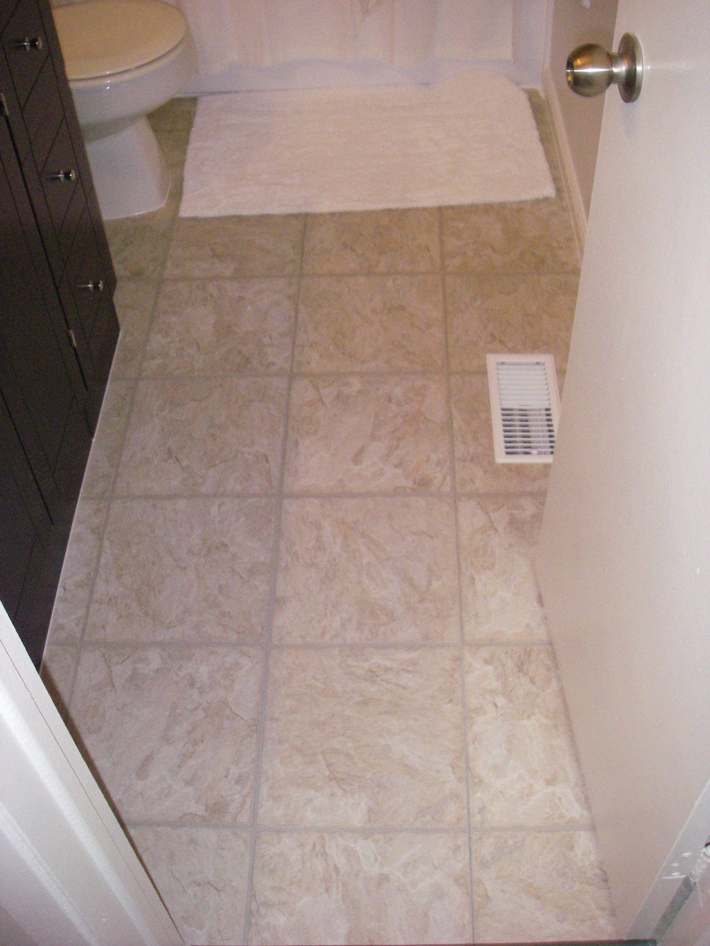 Ceramic Tile Bathroom Is Luxury Vinyl Tile Cost Effective Home Improvement Stack Exchange