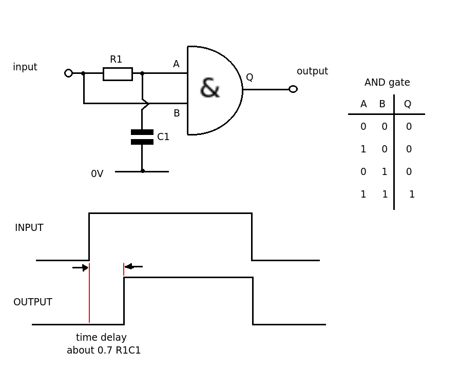 rc time delay circuit